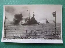 "H.M.S ""Renown"" & ""Rodney"" Firing 'Britain Prepared' Second World War Postcard"