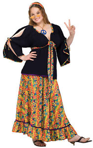 Groovy Mama Adult Costume Dress Skirt Womens Hippie 60s 70s Flower Child Forum