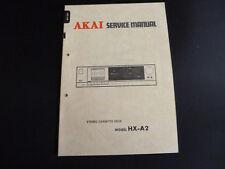 ORIGINALI service manual AKAI hx-a2
