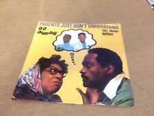 "DJ JAZZY JEFF FRESH PRINCE PARENTS JUST DON'T UNDERSTAND PIC SLEEVE  VINYL 7"" *"