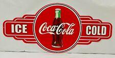 NEW Coca Cola Bottle Service Station tin metal sign