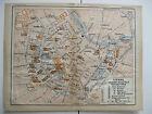 stampa antica mappa antique old map AUSTRIA Osterreich VIENNA VIENNE 1914