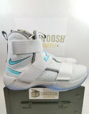 Nike Lebron Soldier 10 917338 110 White White Brand New Sz 13 Ice New Flyease