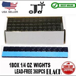 1BOX 1/4 OZ BLACK WHEEL WEIGHTS STICK-ON ADHESIVE TAPE  LEAD-FREE 360PCS