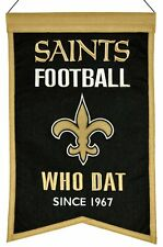 New Orleans Saints Wool Franchise Banner (NEW) NFL Man Cave Sign Wall Flag