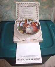 "1985 Norman Rockwell Knowles Collector Plate ""Here Comes The Bride"" Coa W/Box"