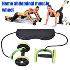 Abdominal Wheel Roller Elastic Training Rope Abs Workout Exerciser Fitness Gym