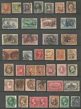 US valuable 19th century stamps # 272 - 8¢ Sherman, # 154 - 30¢ Hamilton - blac