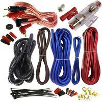 Cecideal 1500 Watt 8 Gauge Blue Car Amplifier Installation Wiring Kit Amp