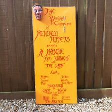 Vintage - Worshipful Companie Of Rendalli Puppets - Puppet Show Advertising Sign