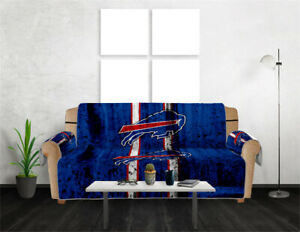 Buffalo Bills Sofa Cover Slipcover Loveseat Chair Couch Furniture Protector Gift