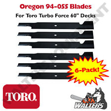"Set of 6 Oregon 94-055 Blades for Toro Turbo Force 60"" Decks"