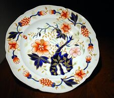 Assiette anglaise gaudy faïence Ironstone HARTLEY GREEN & Co LEEDS Pottery