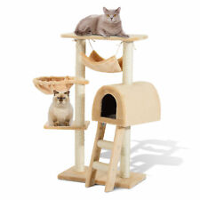 "39"" Cat Tree Scratching Post Kitty Tower Kitten Condo Multi-level House Hammock"