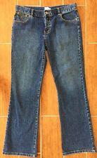 •CALVIN KLEIN•Boot Cut Jeans Dark Wash Stretch Women's/Jr Size 9    EUC