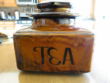 Vintage Lidded Ceramic Tea Storage Ca