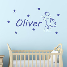 Personalised Iggle Piggle Wall STICKER In the night garden decal name NA41