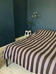 STRIPED AFRICAN COTTON BEDSPREAD THROW NEW