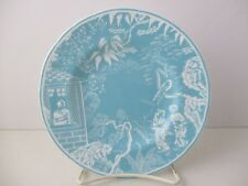 """ROYAL CROWN DERBY MIKADO TURQUOISE BREAD & BUTTER  6 1/4"""" -0904A"""