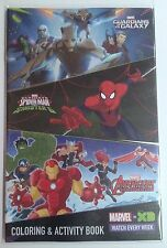 Disney XD Marvel GOTG, Spider-Man and Avengers Coloring & Activity Book