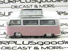 Greenlight 1:64 LOOSE Collectible Pink 1974 VOLKSWAGEN VW Type 2 SAMBA BUS Van