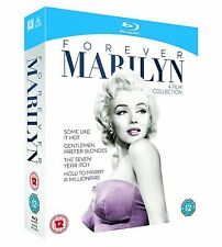 Forever Marilyn Monroe 4 Film Collection Box Set Blu-Ray Set NEW Free Ship