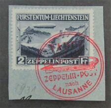 nystamps Liechtenstein Stamp # C8 Used $400
