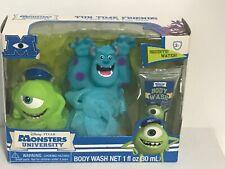 Disney PIXAR Tub Time Friends Monsters University - 2 Bath Poufs & Body Wash