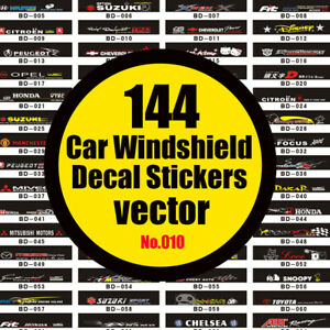 (010) 144 Car windshield stickers vector.Car decal vectorgraph.Vector images