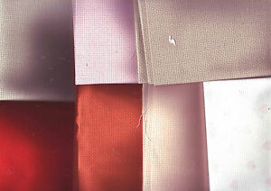 UPDATED! Pieces of COLOURED 14 Count Aida Cross Stitch Fabric Pick Colour & Size
