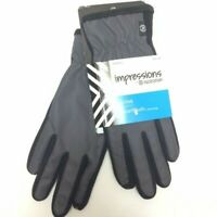 Impressions By Isotoner Active Smartouch Technology Gloves Women's Gray/Black