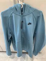 Nike Men Tech Fleece Cerulean Blue Hoodie Full Zip Size XL 928483-424