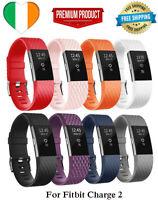 Luxury Silicone Band Strap Buckle For Fitbit Charge 2 Watch Replacement Large