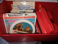 Viewmaster With 52 Reels And Case