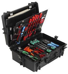 MAX430PU - Equipment Case wasserdicht, schwarz, Werkzeuginlet, 430x286x185mm