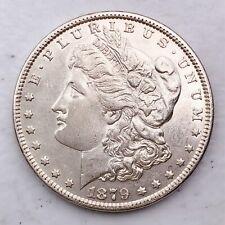 1879 AU MORGAN SILVER DOLLAR 90% SILVER $1 COIN US #L25