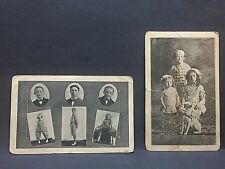 Two Postcards from Vaudeville early 1900's: THE SHELLEYS & THE LITTLE SHELLEYS