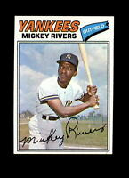 1977 Topps #305 Mickey Rivers NM-MT Yankees Centered Vintage Baseball Card