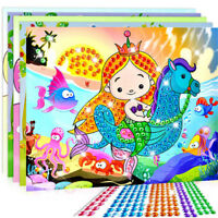 5D Diamond Embroidery Kids Painting Kit Mosaic Learning Puzzles Cartoon DIYJ Pg