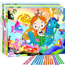 5D Diamond Embroidery Kids Painting Kit Mosaic Learning Puzzles Cartoon Gift、New