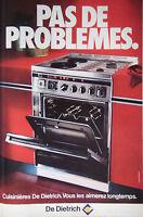 PUBLICITÉ DE PRESSE 1978 - CUISINIÈRES DE DIETRICH - ADVERTISING
