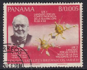 PANAMA 25 NOVEMBER 1966 WINSTON CHURCHILL / SPACE 5 C COMMEMORATIVE FINE USED