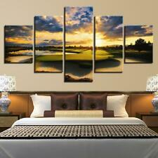 Sunset Golf Course Sport 5 piece HD Art Poster Wall Home Decor Canvas Print