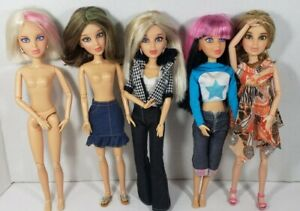 Liv Fashion Dolls Lot Of 5 By Spin Master With Wigs 2009, fashion doll