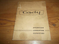 Cady Motorcycle Operation, Lubrication & Servicing Handbook 1966 Scooter Moped