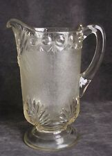 Vintage Westmoreland EAPG Shell and Jewel Clear Glass Footed Pitcher Victor