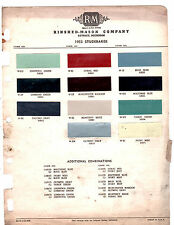 1953 STUDEBAKER CHAMPION COMMANDER STARLIGHT 53 PAINT CHIPS RINSHED MASON 2