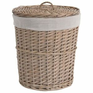 Handmade Natural Large Wicker Weave Storage Basket with Lid Dirty Clothes bag