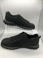Skechers Grand Jams Replenish Womens Size 10 Black Leather Lace Up Sneakers