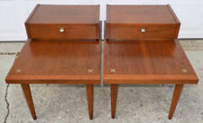 Merton Gershun for American Martinsville pair of end tables mid century modern